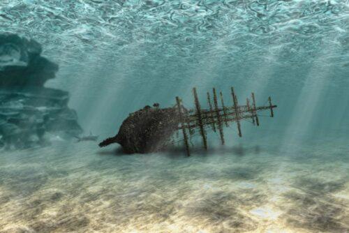 Редкие артефакты подняли с затонувшего у берегов Израиля корабля