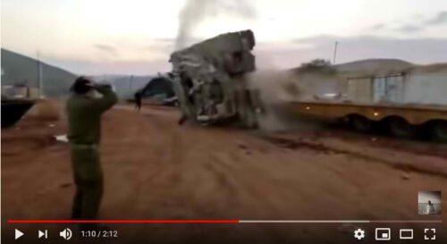 Видео ЧП на базе ЦАХАЛа: как опрокидывается танк «Меркава»