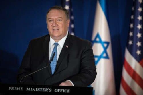 Помпео заявил, что руководство Палестины отказалось от мира с Израилем, предложенного США