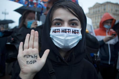 «Долой царя!»- в Тель-Авиве и Хайфе на митинги солидарности с Навальным пришли тысячи израильтян