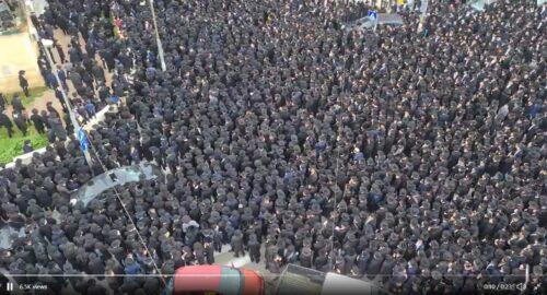 Тысячи человек собрались на похороны главы йешивы в Иерусалиме