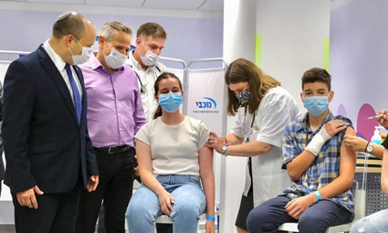 Министерство здравоохранения Израиля объявило о результатах обширного исследования эффекта «бустерной» вакцинации