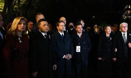 В Киеве в Бабьем Яру состоялась церемония открытия мемориала жертвам Холокоста